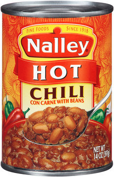 Nalley® Hot Chili con Carne with Beans 14 oz. Can