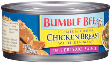 Bumble Bee® Premium Chunk Chicken Breast with Rib Meat in Teriyaki Sauce 10 oz. Can