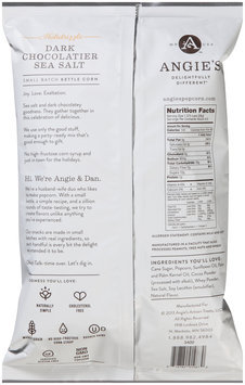 Angie's® Holidrizzle Dark Chocolatier Sea Salt Kettle Corn 4.5 oz. Bag