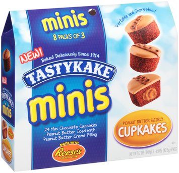 Tastykake® Minis Peanut Butter Swirly Cupkakes 8 - 1.5 oz Packages