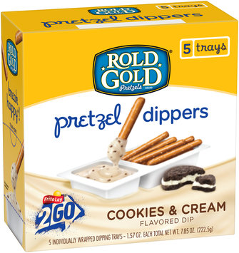 Rold Gold® Cookies & Cream Pretzel Dippers 5-1.57 oz. Trays