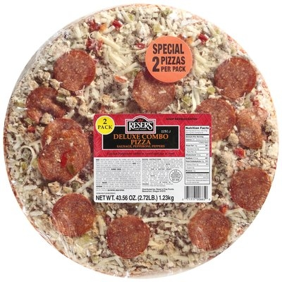 Reser's Fine Foods Deluxe Combo 2 Pack Pizza 43.56 Oz Wrapper