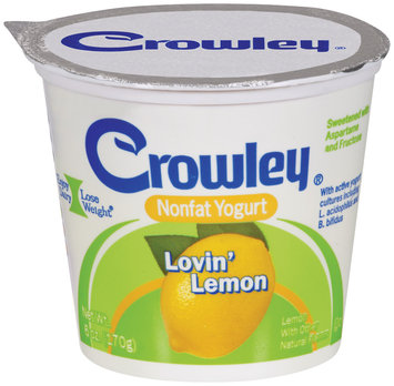 Crowley® Nonfat Yogurt Lovin' Lemon 6 oz.
