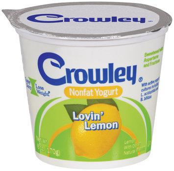 crowley® nonfat yogurt lovin' lemon