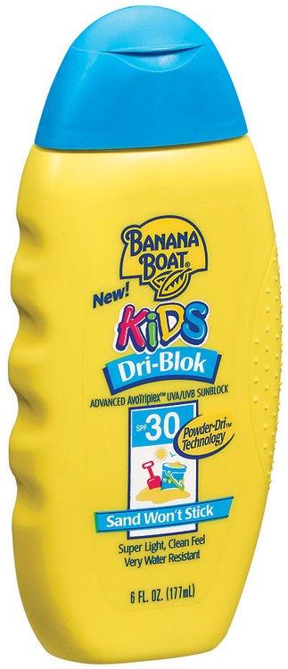 Banana Boat Kids  Dri-Blok SPF 30 Sunblock Lotion For Children 6 Fl Oz Plastic Bottle