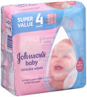 Johnson's® Baby Skincare Wipes Super Value 4 Packs 256 ct Bag