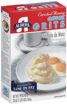 Albers Enriched Hominy Quick Grits 20 Oz Pour Spout
