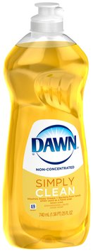 Dawn Lemon Dishwashing Liquid 25 Fl Oz