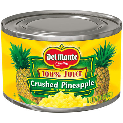 Del Monte® Crushed Pineapple in 100% Pineapple Juice 8 oz. Can