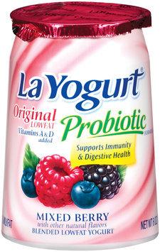 La Yogurt Mixed Berry Blended Lowfat Yogurt Original 6 Oz Cup