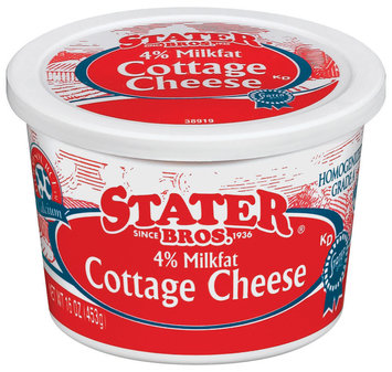 Stater Bros. 4% Milkfat Cottage Cheese 16 Oz Tub