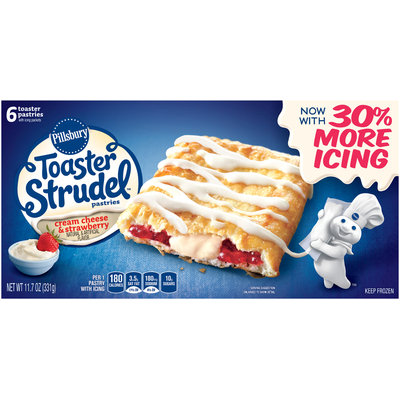 Pillsbury Toaster Strudel™ Cream Cheese & Strawberry Toaster Pastries 6 ct Box
