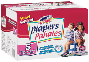 Special Value Size 5 X-Large Over 27 Lb Diapers 70 Ct Box