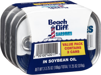 Beach Cliff® Sardines 3- 3.75 oz. Can