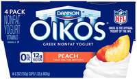 Dannon Oikos 4 Pack Oikos Greek Yogurt Peach 5.3 Oz 4 Pk Cups