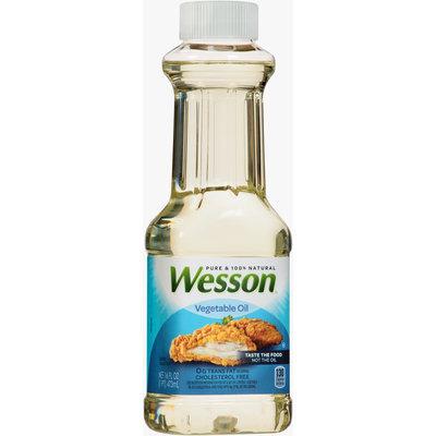 Wesson® Pure 100% Natural Vegetable Oil 16 fl. oz. Bottle