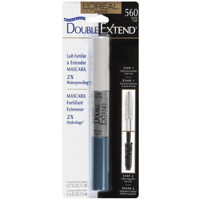 Double Extend Lash Extender & Fortifier 2X Waterproofing Black 560 Mascara .33 Fl Oz Peg