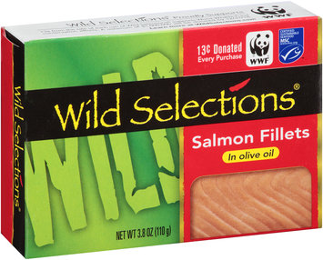 Wild Selections® Salmon Fillets in Olive Oil 3.8 oz. Box