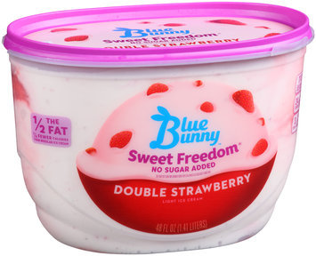 Blue Bunny Sweet Freedom No Sugar Added Double Strawberry
