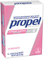 Propel® Raspberry Lemonade Water Beverage Mix with Electrolytes & Vitamins 10-0.08 oz. Packets