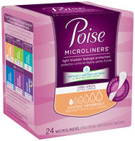 Poise® Microliners* Lightest Absorbency Long Length Microliners 24 ct Box