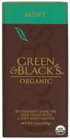 Green & Black's King Bars Bittersweet Dark 70% W/Soft Mint Center Organic Chocolate