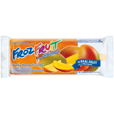 FrozFruit® Chunky Mango Fruit Bar 4 fl. oz. Wrapper