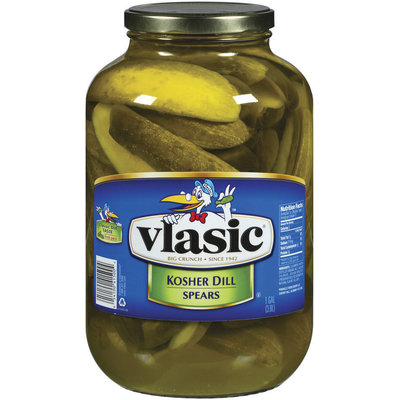 Vlasic Kosher Dill Spears Fresh Pack Pickles 1 Gal Jar