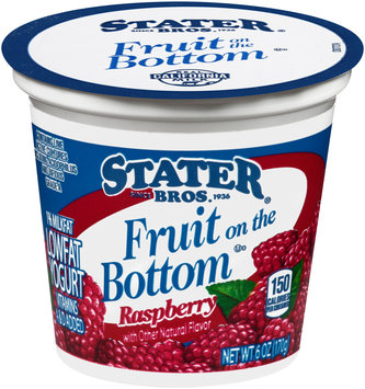 Stater Bros.® Fruit on the Bottom Low Fat Raspberry Yogurt 6 oz. Cup