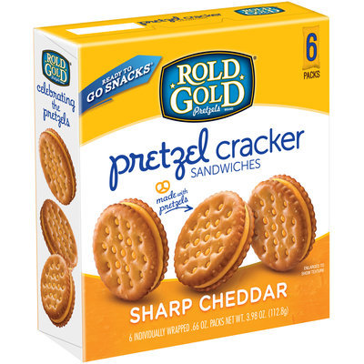 Rold Gold® Sharp Cheddar Pretzel Cracker Sandwiches 6-0.66 oz. Packs
