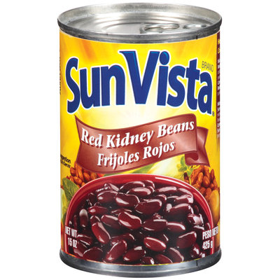 Sun-Vista Red Frijoles Rojos Kidney Beans 15 Oz Pull-Top Can