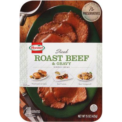 Hormel®   Sliced Roast Beef & Gravy 15 oz. Tray