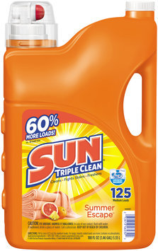 Sun® Triple Clean Summer Escape™ Detergent 188 fl. oz. Plastic Jug