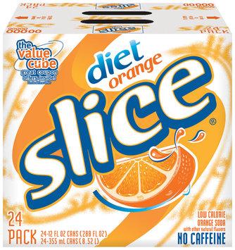 Diet Slice® Orange Soda 24 Pack 12 fl. oz. Cans
