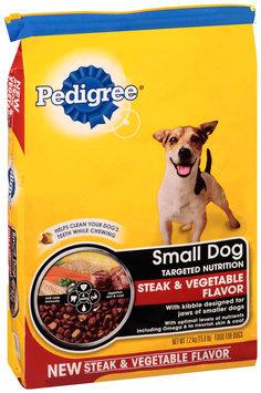 Pedigree® Small Dog Targeted Nutrition Steak & Vegetable Flavor Dry Dog Food