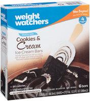 Weight Watchers Snack Size Cookies & Cream Ice Cream Bars 6 ct Box