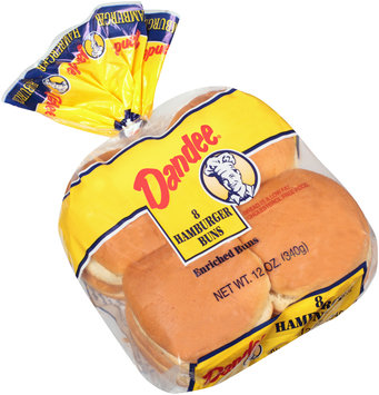 Dandee® Enriched Hamburger Buns 8 ct Bag
