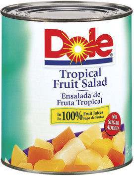 Dole Canned Fruit In 100% Fruit #10 Juice Tropical Fruit Salad 106 Oz Can