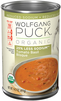 Wolfgang Puck® Organic 44% Less Sodium Tomato Basil Bisque 14.5 oz. Can