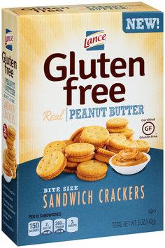 Lance® Gluten Free Peanut Butter Bite Size Sandwich Crackers 5 oz. Box