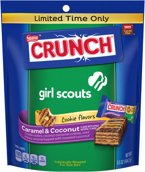 nestlé girl scouts crunch caramel & coconut cookies bars,