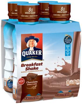 Quaker Chocolate Breakfast Shake 4-11.1 fl. oz. Bottles