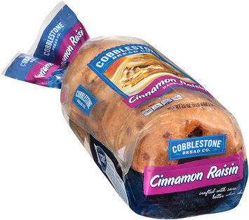 Cobblestone Bread Co.™ Cinnamon Raisin Bagels 20 oz. Bag