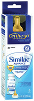 Similac Advance Earlyshield Complete Nutrition Milk-Based Ready to Feed On The Go Infant Formula 8 Fl Oz Peg