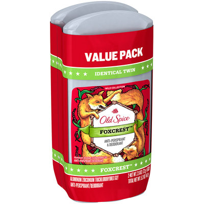 Wild Collection Old Spice Wild Collection Foxcrest Invisible Solid Twin Pack 5.2 Oz