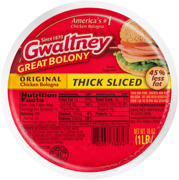 Gwaltney® Original Chicken Thick Sliced Bologna