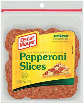 Oscar Mayer Cold Cuts  Pepperoni Slices 6 Oz Peg