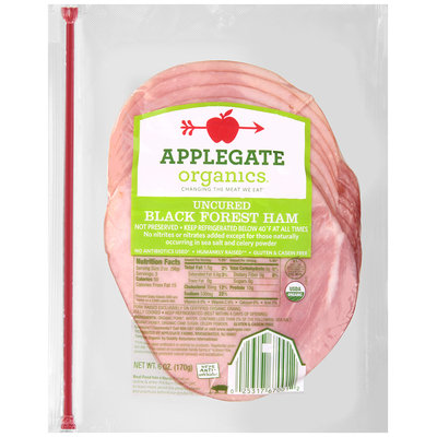 Applegate Organics® Uncured Black Forest Ham 6 oz. Pack