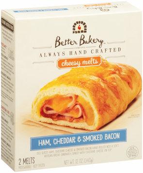 Better Bakery Company™  Ham, Cheddar & Smoked Bacon Cheesy Melts 12 oz. Box