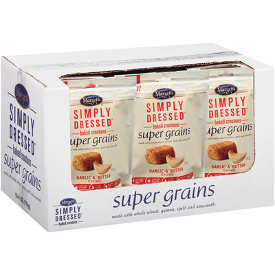 Marzetti® Simply Dressed™ Garlic & Butter Super Grains Baked Croutons 4 oz. Pouch